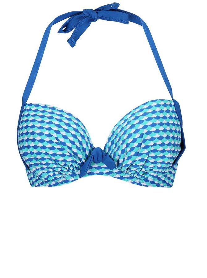 Sutien Curvy Kate Atlantis albastru cu imprimeu