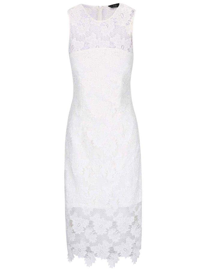 Krémové krajkované midi šaty AX Paris