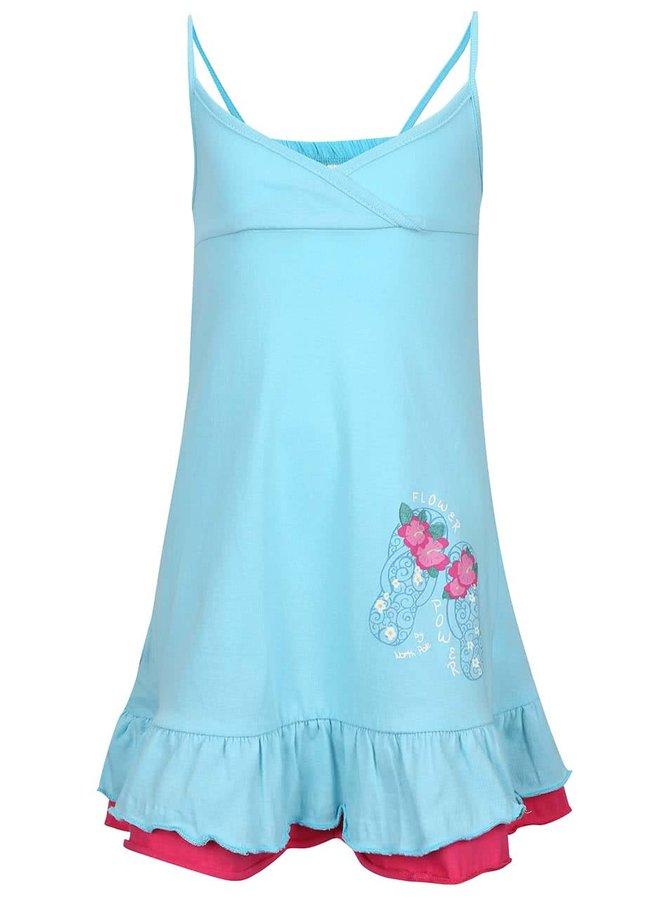 Světle modré holčičí šaty na ramínka North Pole Kids