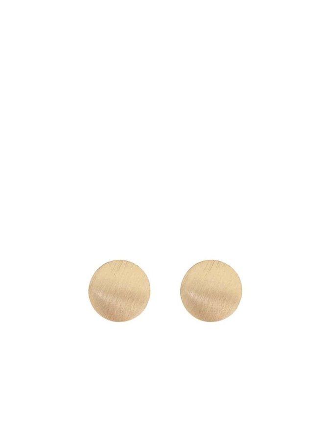 Cercei aurii Pieces Miebe cu formă rotundă
