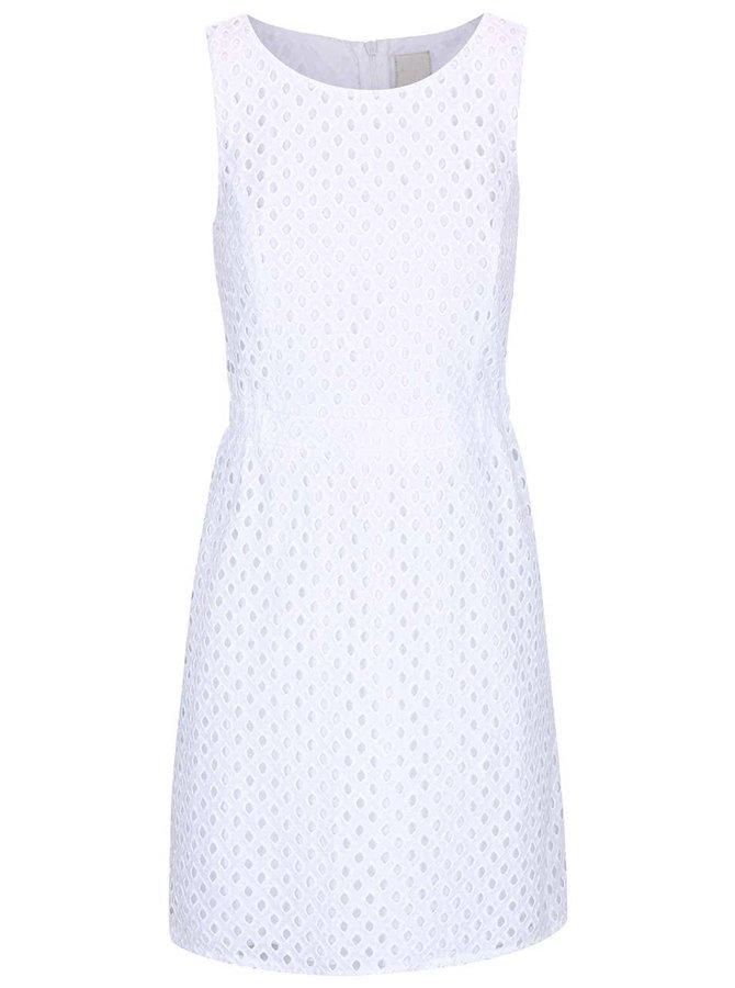 Bílé perforované šaty ICHI Arly