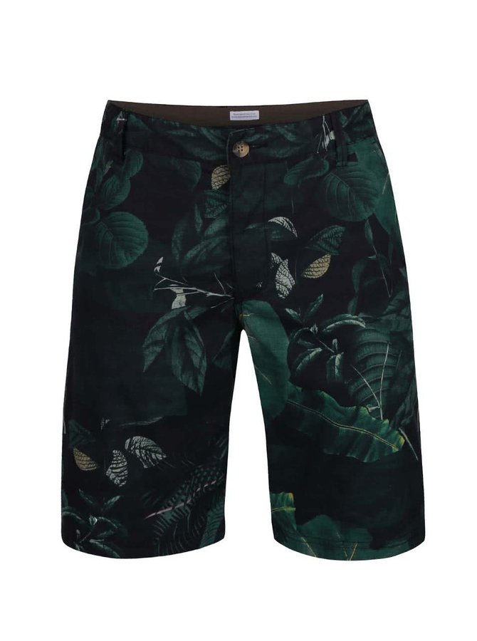 Pantaloni scurți Lindbergh Kurtis verzi cu imprimeu