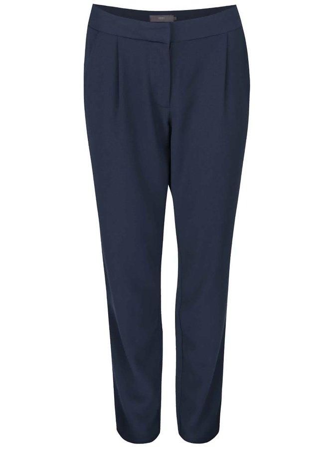 Tmavě modré kalhoty rovného střihu ICHI Sirit