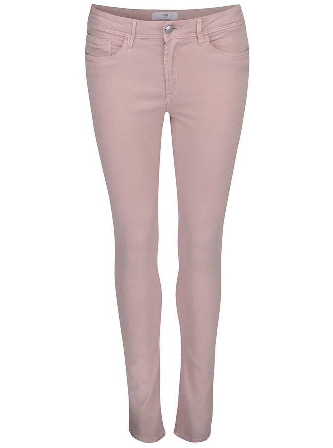 Světle růžové džíny ICHI Erin Izaro