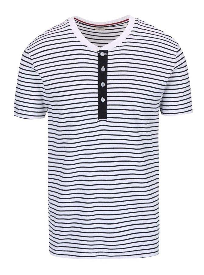 Bílé pruhované triko Lindbergh Sprit
