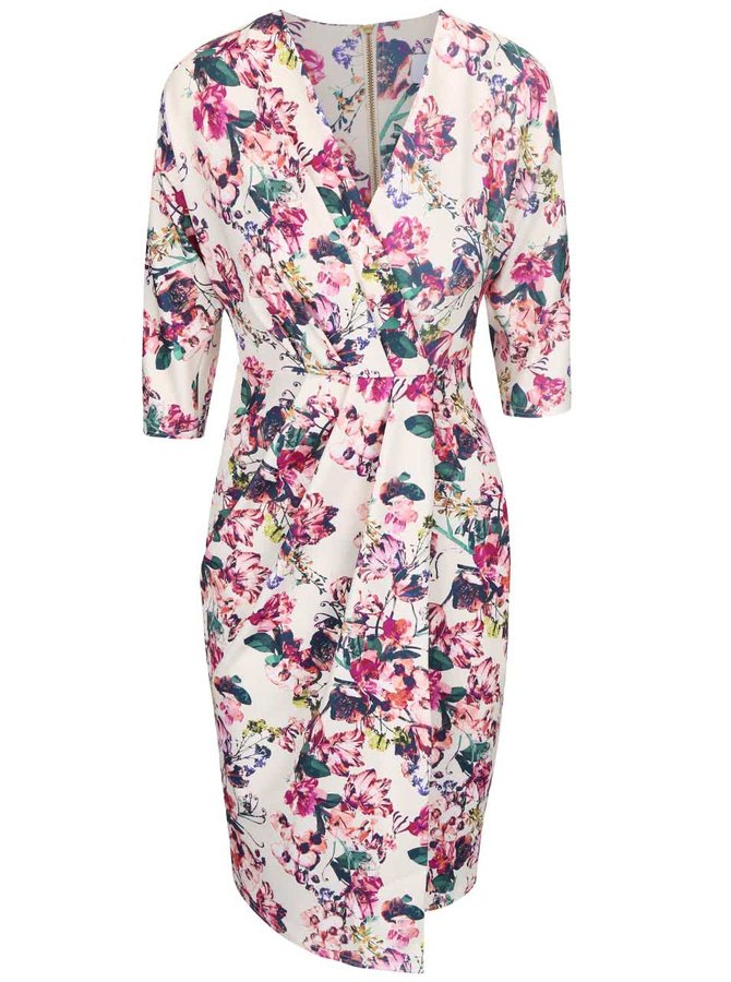 Krémové šaty s kvetovaným motívom Closet