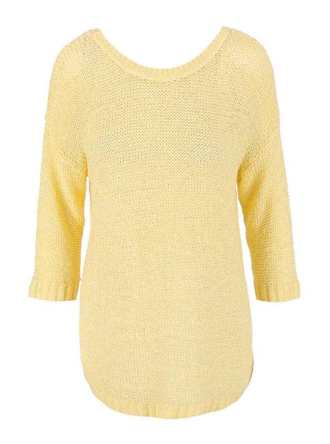 Žltý sveter s 3/4 rukávmi VILA Pray
