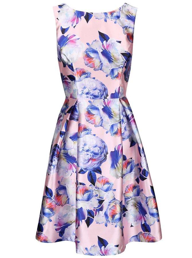 Růžové květované šaty Chi Chi London Justice