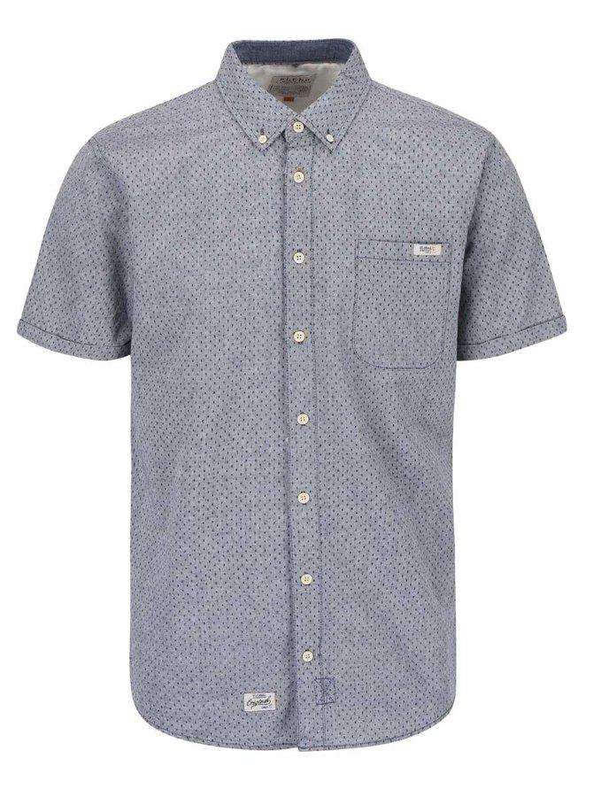 Sivomodrá košeľa s jemným vzorom Blend