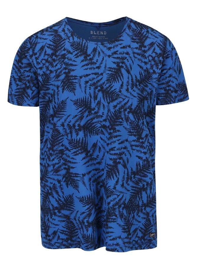Čierno-modré vzorované tričko s krátkym rukávom Blend