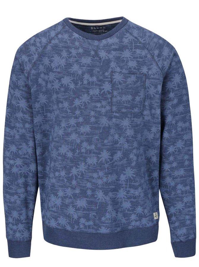 Bluză cu imprimeu Blend albastră