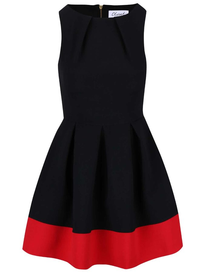 Rochie Closet negru cu roșu