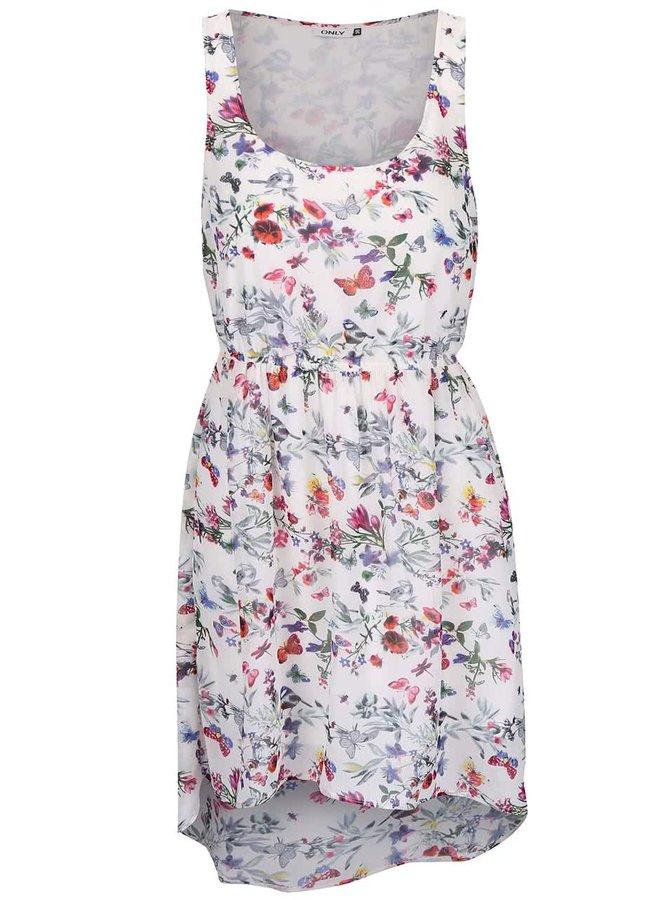 Krémové květované šaty ONLY Butterfly
