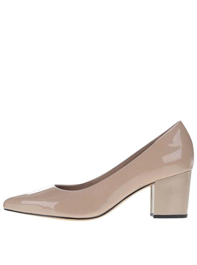 Pantofi din piele Clarks Pravana Rose bej