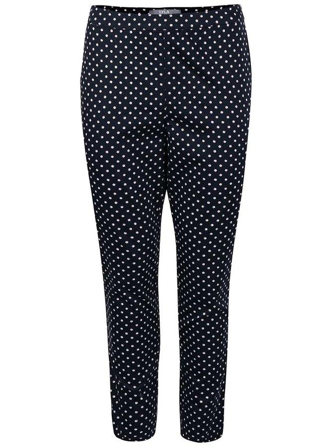 Pantaloni Dorothy Perkins albastru închis cu buline