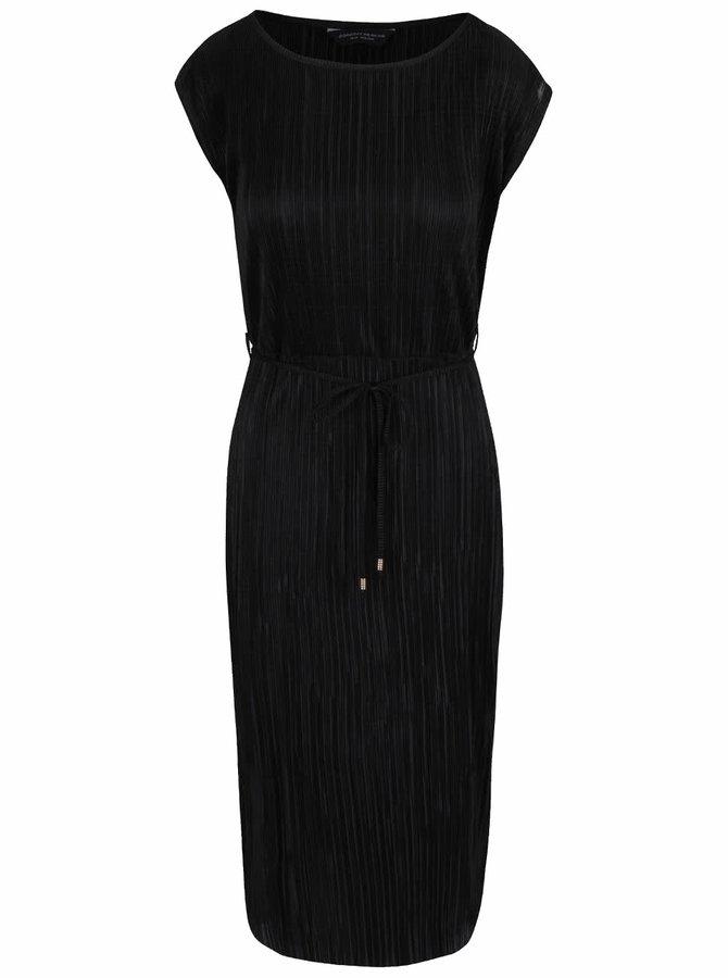 Čierne plisované šaty Dorothy Perkins