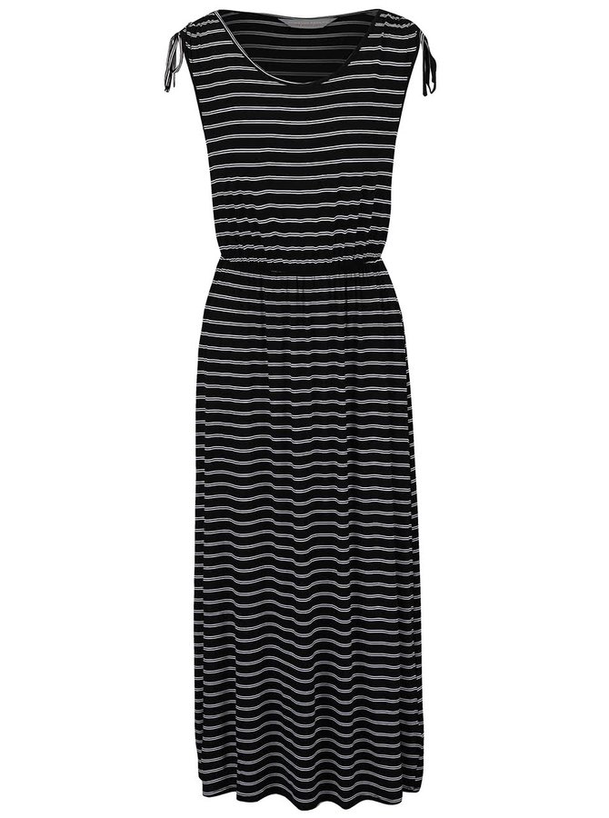 Šedo-černé pruhované šaty Dorothy Perkins Petite