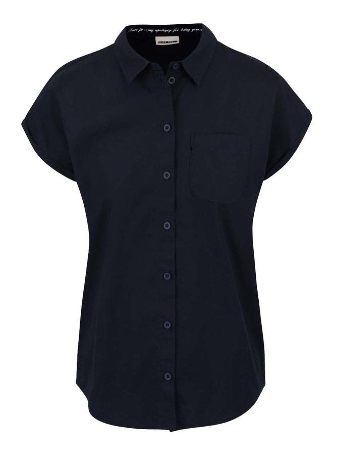 Tmavomodrá košeľa s krátkym rukávom Noisy May Kimma