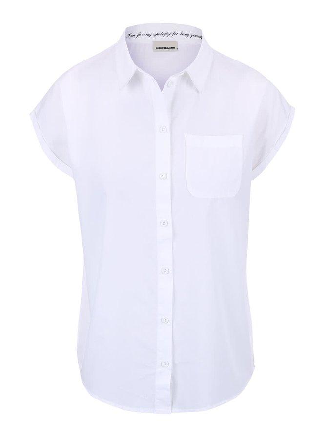 Bílá košile s krátkým rukávem Noisy May Kimma