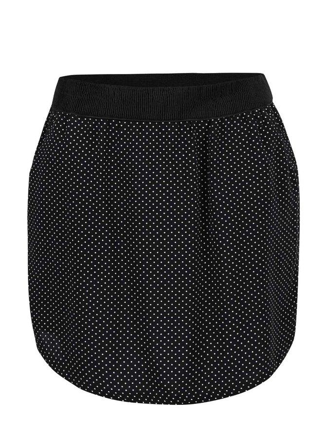 Černá sukně s puntíky VERO MODA Super Easy