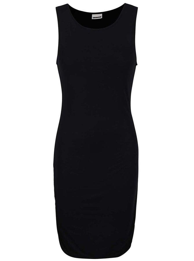 Čierne šaty s riasením Noisy May Tasty