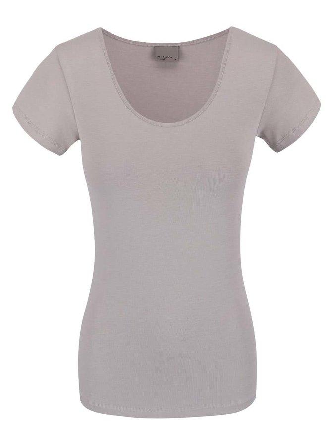 Šedé tričko s krátkým rukávem VERO MODA Maxi My