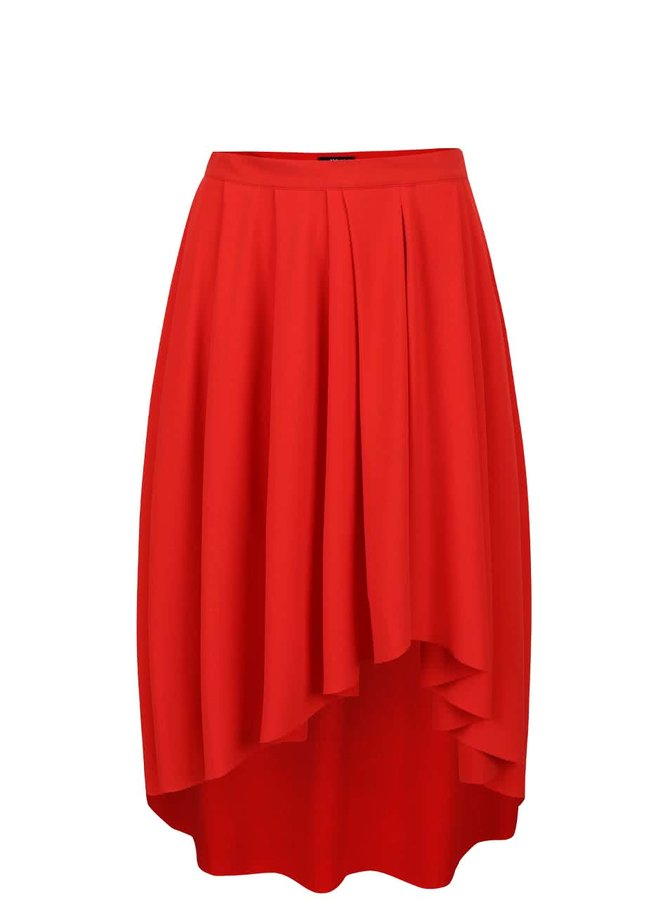Červená skladaná sukňa Alchymi Bellis
