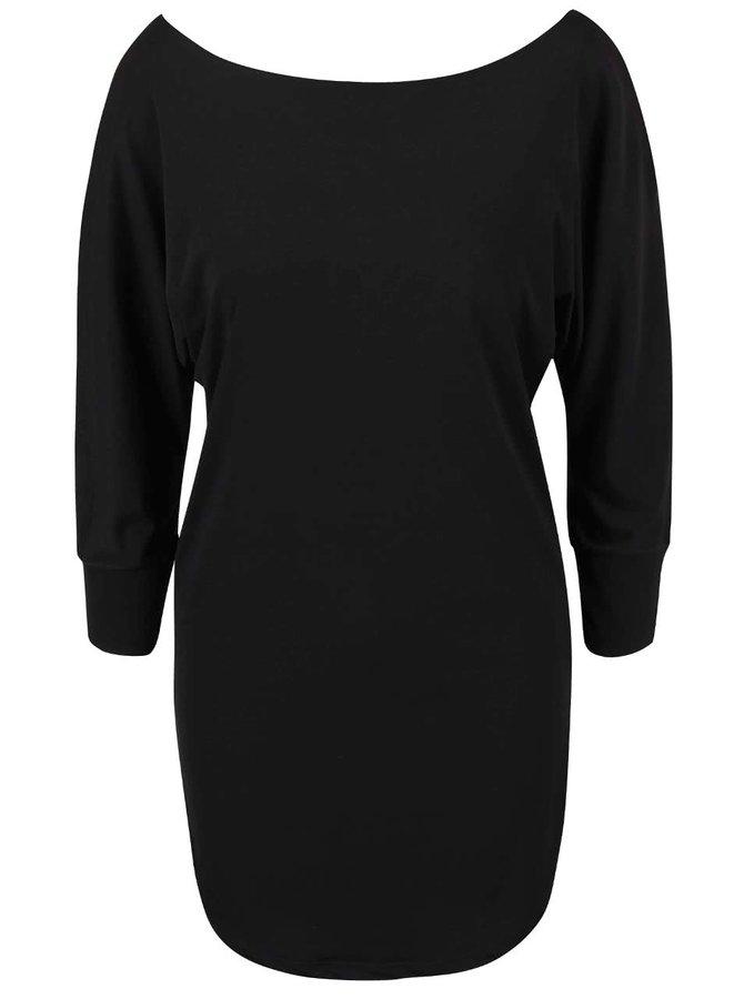 Čierne šaty s netopierími rukávmi Alchymi Salita