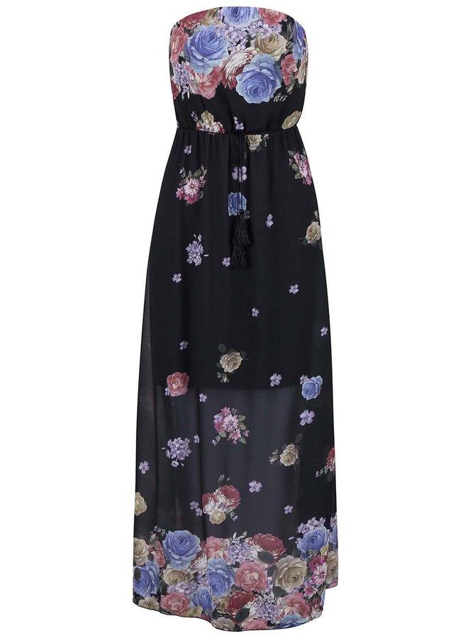 Tmavosivé šaty s ružami Haily´s Kelsie