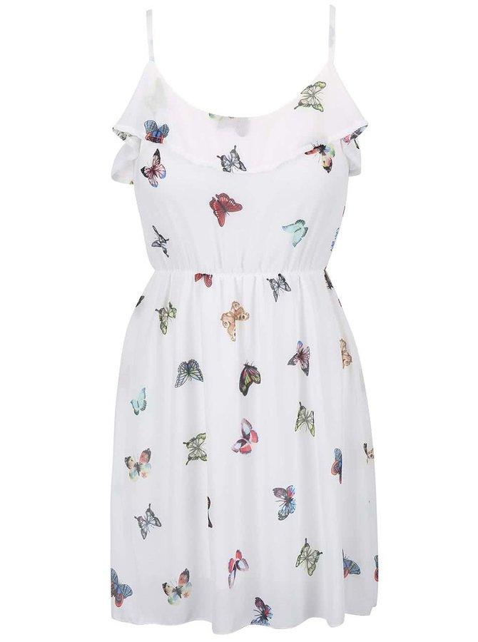 Krémové šaty s potlačou Haily´s Butterfly