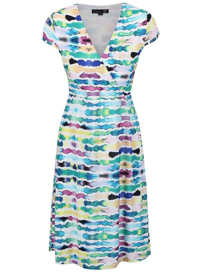 Krémové šaty s barevnými pruhy Smashed Lemon