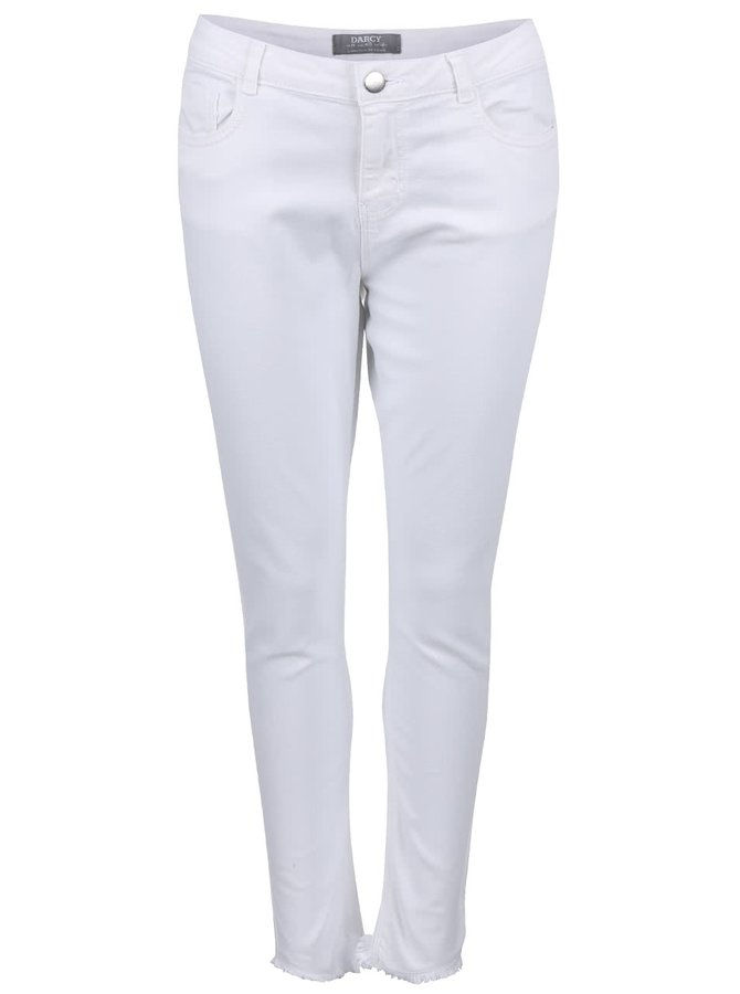 Biele rifle s rozstrapkanými nohavicami Dorothy Perkins