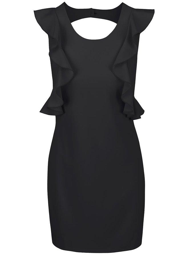 Čierne šaty s volánmi Alchymi Pyrope