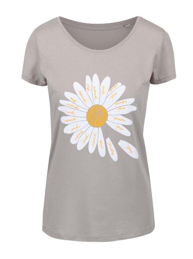 Tricou gri ZOOT Original Daisy din bumbac cu print