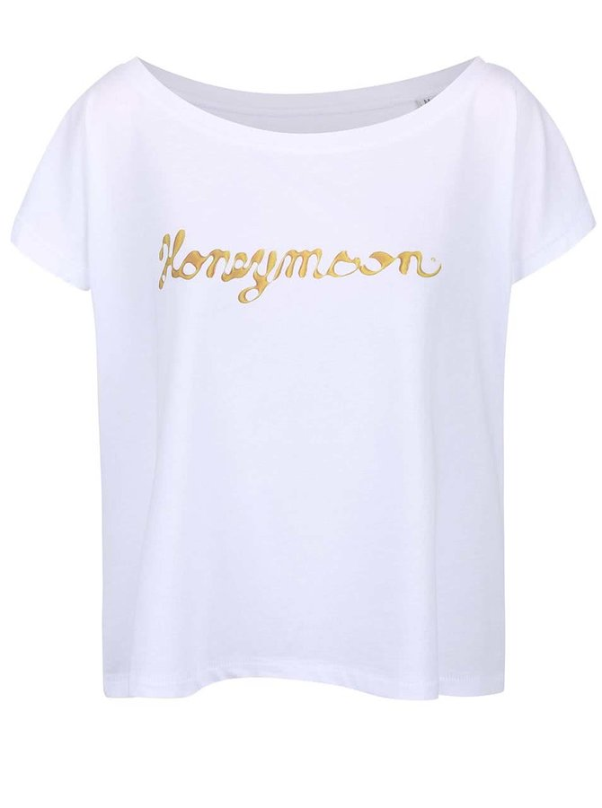 Bílé dámské volnější tričko ZOOT Originál Honeymoon