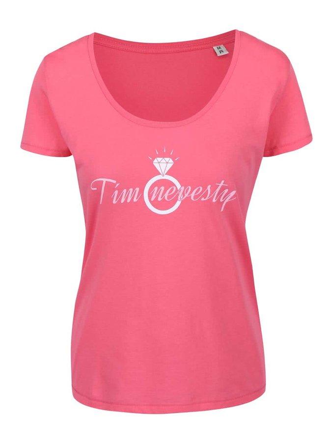 Růžové dámské tričko ZOOT Originál - Tím nevesty