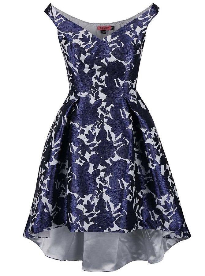 Tmavě modré květované šaty Chi Chi London Arabella