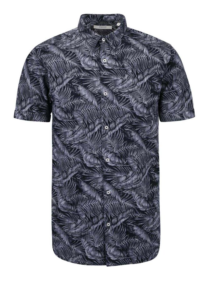 Tmavomodrá vzorovaná košeľa Jack & Jones Tucker