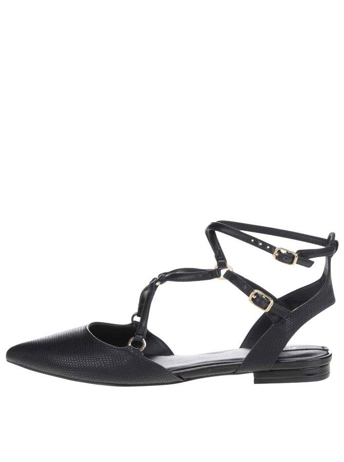 Černé sandálky s ozdobným páskem ALDO Eddiva