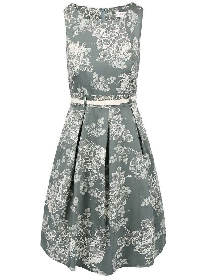 Rochie verde cu imprimeu Apricot