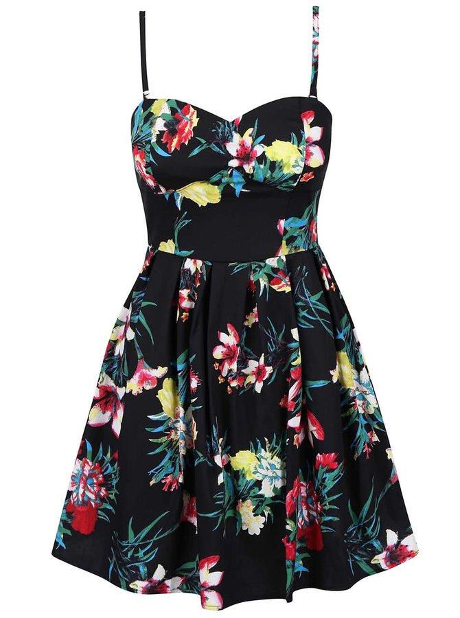 Čierne šaty s odopínateľnými ramienkami Apricot