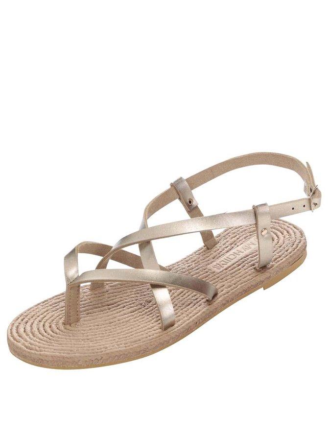 Sandále v zlatej farbe Haily´s Janet