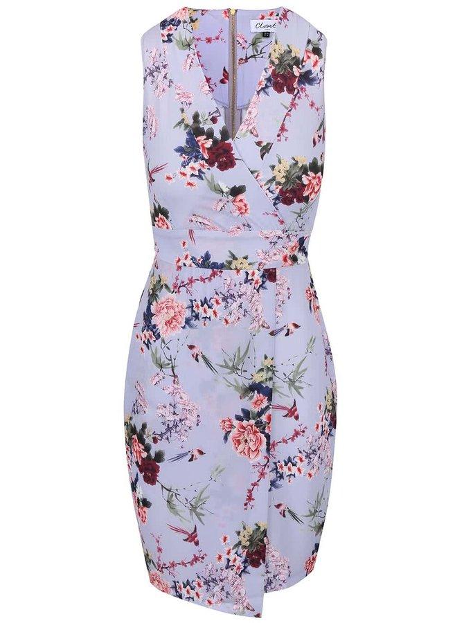 Světle fialové šaty s květinovým vzorem Closet
