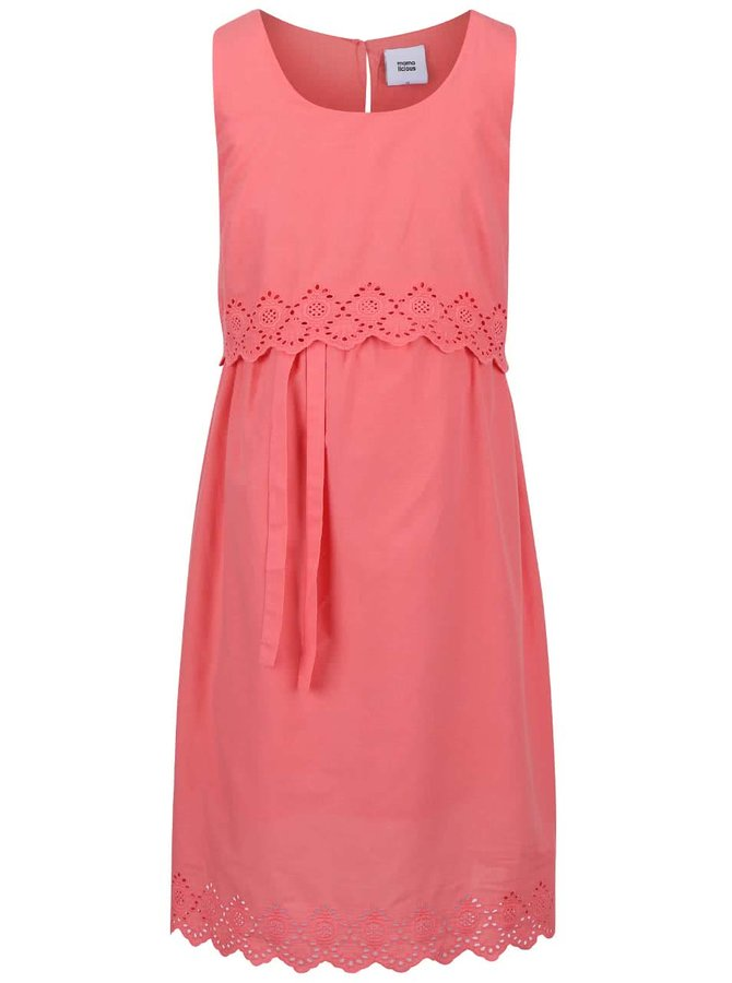 Ružové tehotenské šaty Mama.licious Femmy