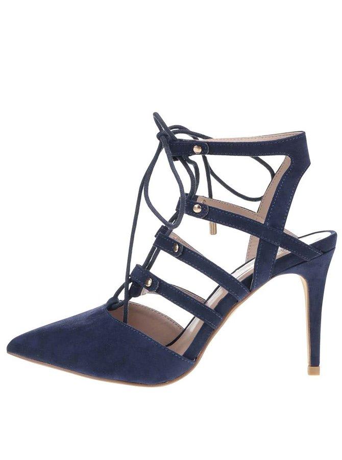 Tmavomodré sandále v semišovej úprave Dorothy Perkins