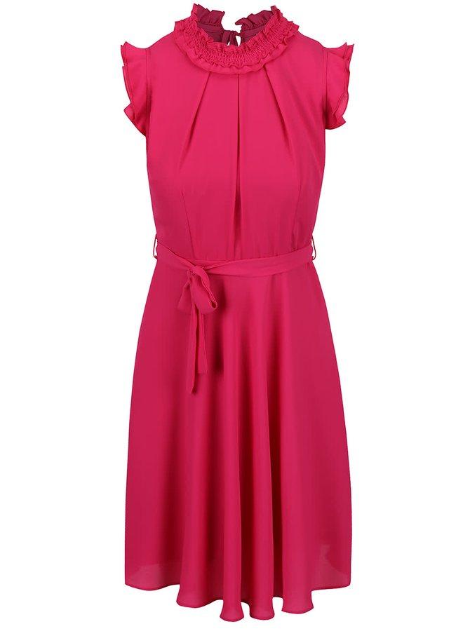 Ružové šaty s volánikmi Dorothy Perkins