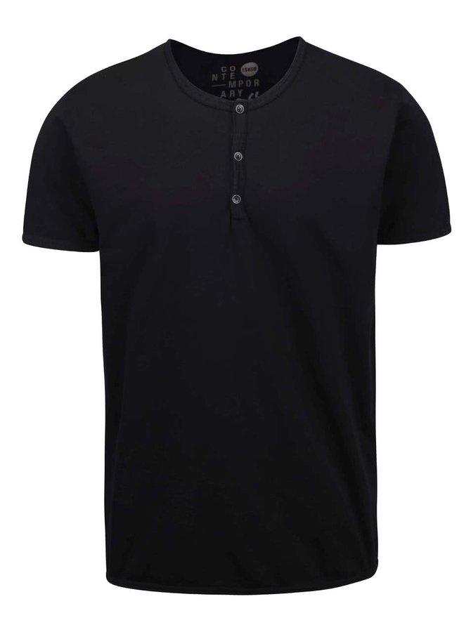 Tricou !Solid Sinan negru