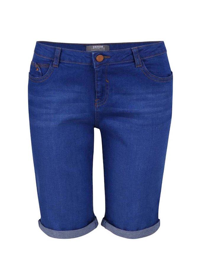 Modré džínové kraťasy nad kolena Dorothy Perkins
