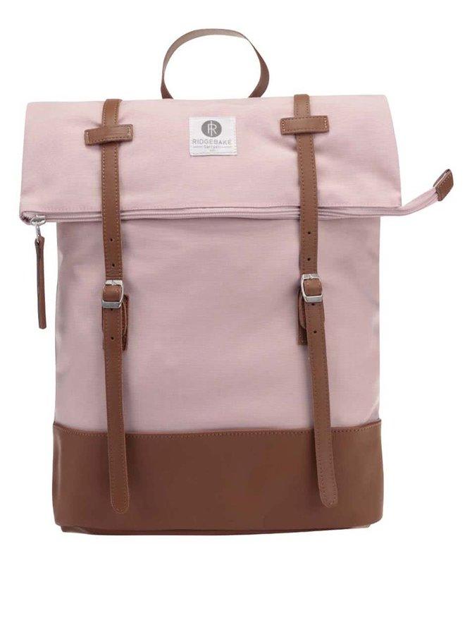 Růžový unisex batoh s nastavitelnou výškou Ridgebake Mid Rolling