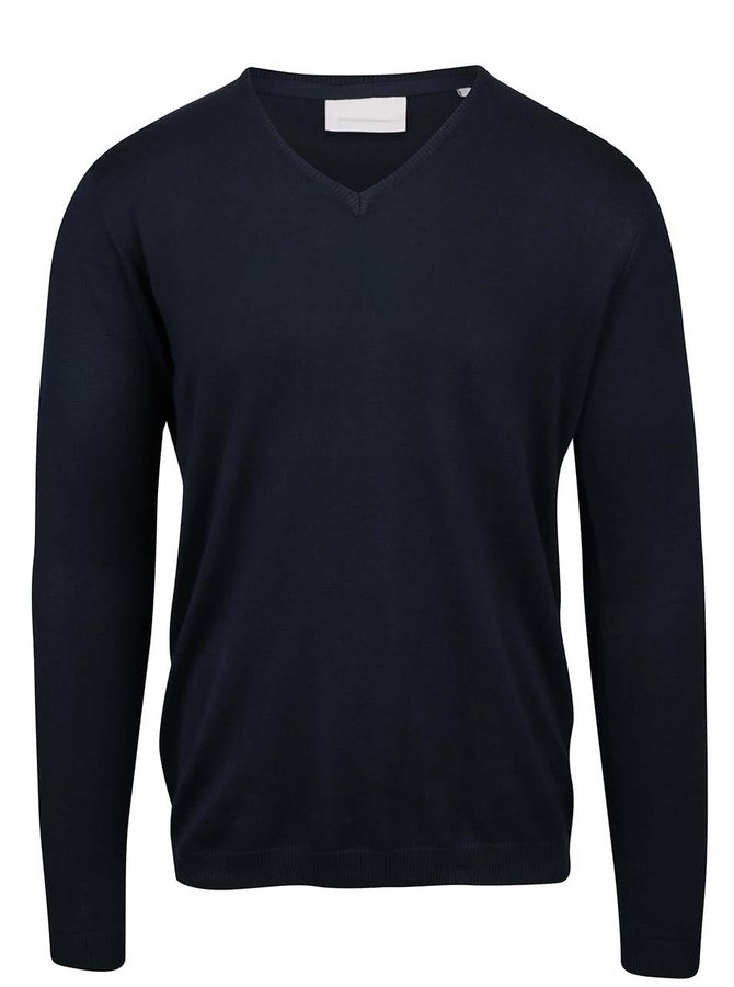 Tmavomodrý sveter Tailored & Originals Kames